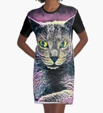 CAT ART T-Shirt Kleid