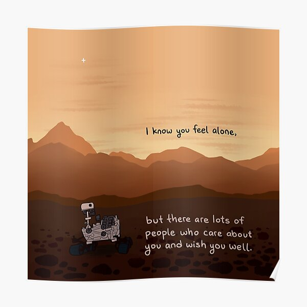 Lonely Mars Curiosity Rover Poster