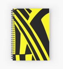 BLACK and YELLOW DAZZLE Spiral Notebook