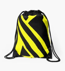BLACK and YELLOW DAZZLE Drawstring Bag