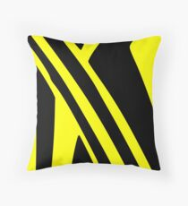 BLACK and YELLOW DAZZLE Throw Pillow