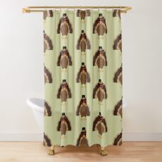 Cool Turkey with sunglasses Happy Thanksgiving Shower Curtain