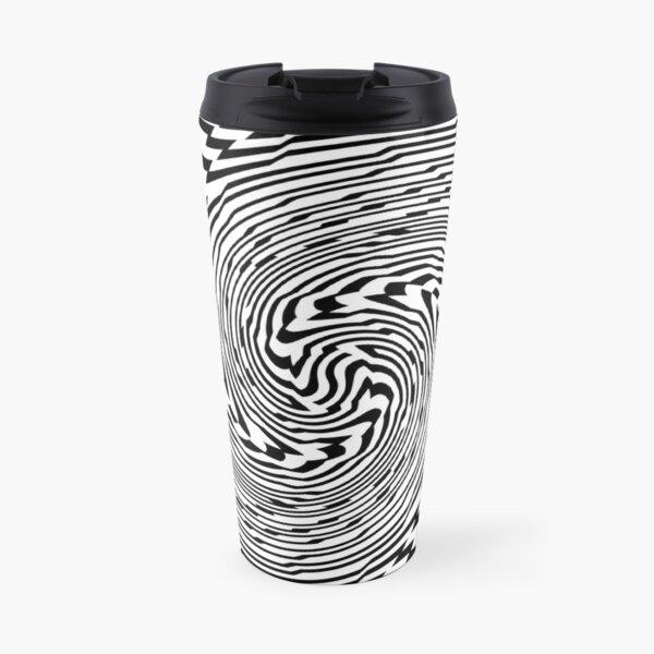 #Psychedelic #Hypnotic #Pattern, Visual #Illusion, Optical Art  Travel Mug