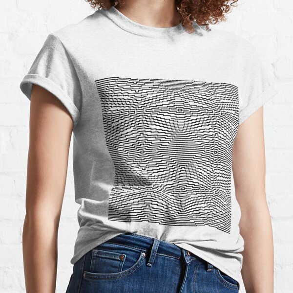 #Psychedelic #Hypnotic #Pattern, Visual #Illusion, Optical Art  Classic T-Shirt