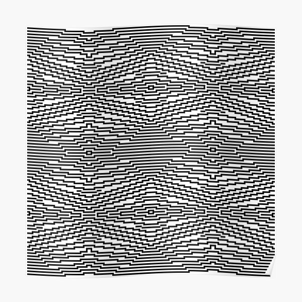 #Psychedelic #Hypnotic #Pattern, Visual #Illusion, Optical Art  Poster