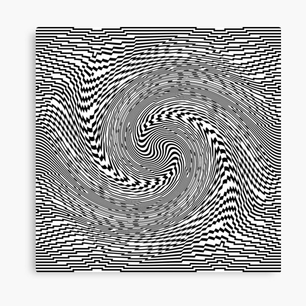 #Psychedelic #Hypnotic #Pattern, Visual #Illusion, Optical Art  Canvas Print