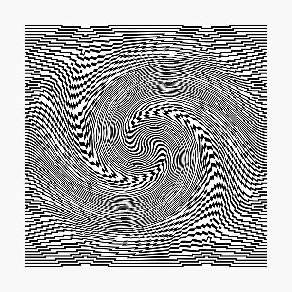 #Psychedelic #Hypnotic #Pattern, Visual #Illusion, Optical Art  Photographic Print