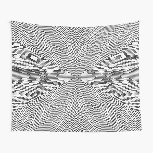 #Psychedelic #Hypnotic #Pattern, Visual #Illusion, Optical Art  Tapestry