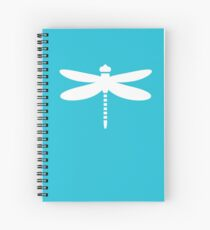 Dragonfly (white on blue) Spiral Notebook