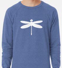Dragonfly (white on blue) Lightweight Sweatshirt