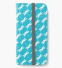 Dragonfly (white on blue) iPhone Wallet/Case/Skin