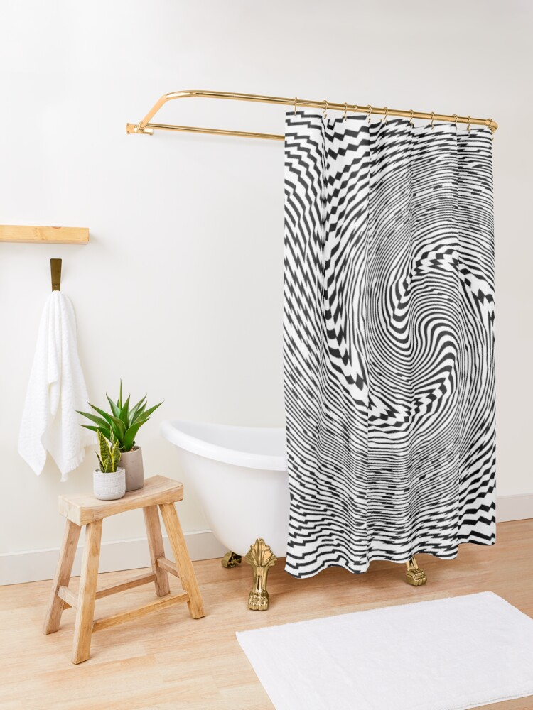 Alternate view of #Psychedelic #Hypnotic #Pattern, Visual #Illusion, Optical Art  Shower Curtain