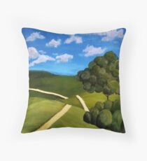 An Empty Footpath Throw Pillow