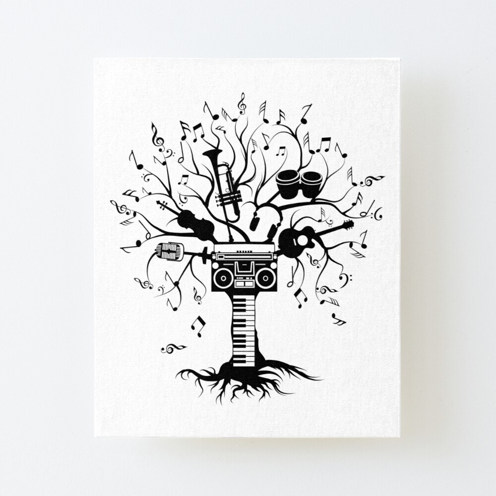 Melody Tree Dark Silhouette Art Board Print By Zomboy Redbubble Over 13,033 tree bark pictures to choose from, with no signup needed. melody tree dark silhouette art board print by zomboy redbubble