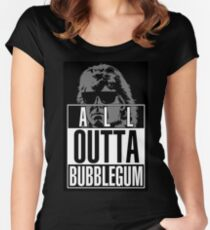 STRAIGHT (ALL) OUTTA BUBBLEGUM Women's Fitted Scoop T-Shirt