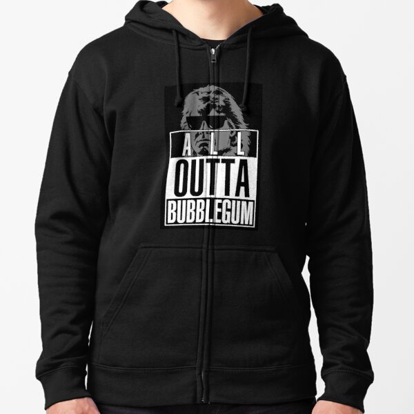 STRAIGHT (ALL) OUTTA BUBBLEGUM Zipped Hoodie