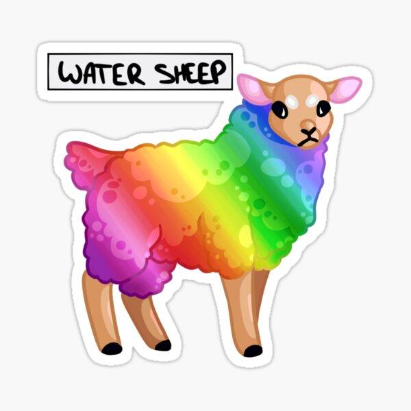 Water Sheep/Jeb_ Pewdiepie Minecraft Series Sticker