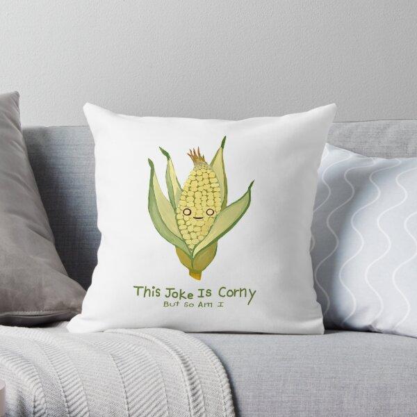 Corny Throw Pillow