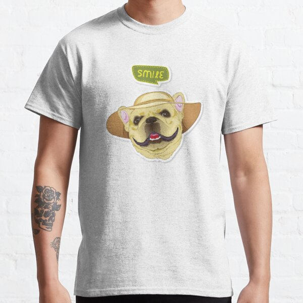"Cutie Canine Frenchie ""Smile"" Classic T-Shirt"