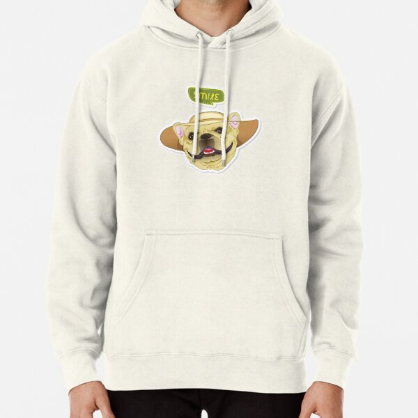 """Cutie Canine Frenchie """"Smile"""" Pullover Hoodie"""