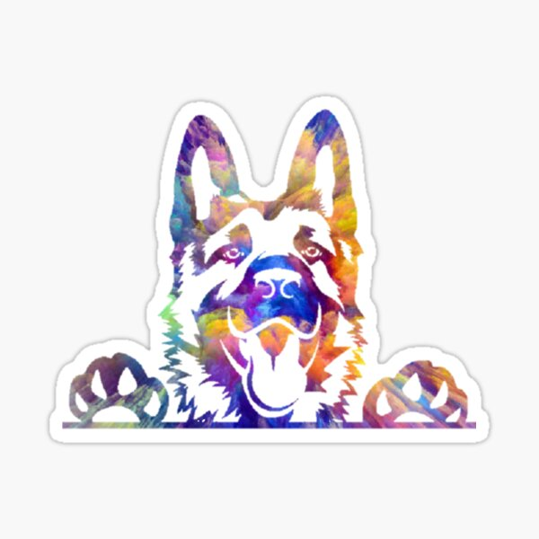 Rainbow GSD Sticker