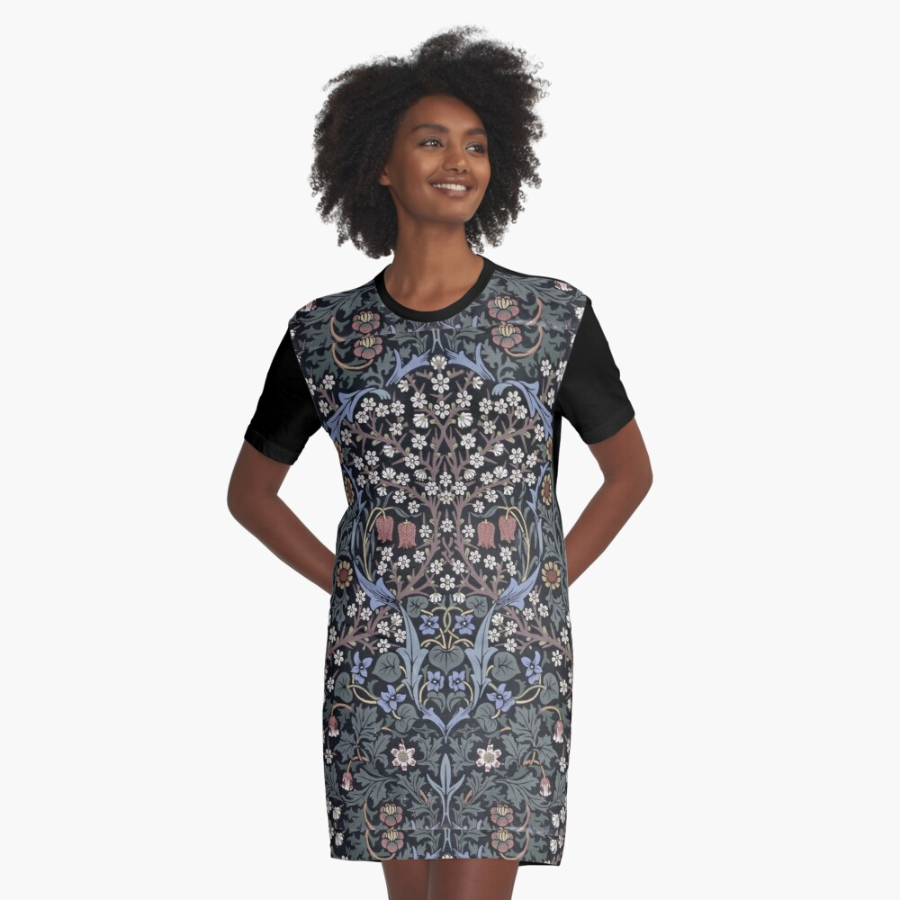 William Morris - Blackthorn  Graphic T-Shirt Dress