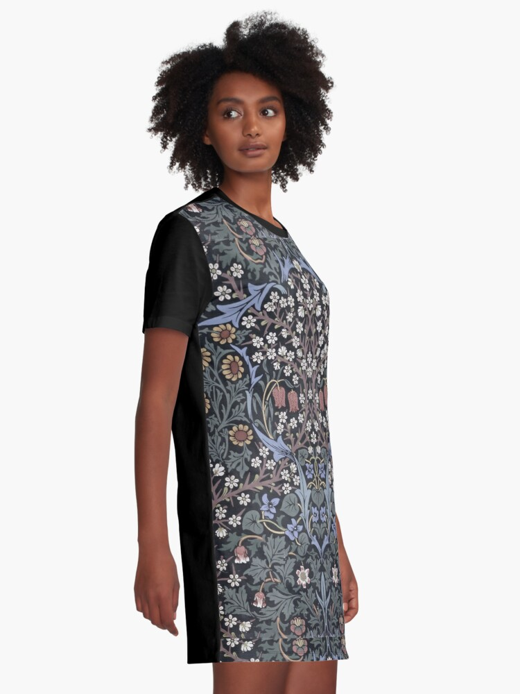 Alternate view of William Morris - Blackthorn  Graphic T-Shirt Dress