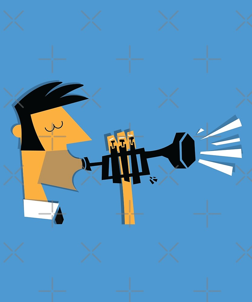 Jazz Trumpeter by jetblackyak