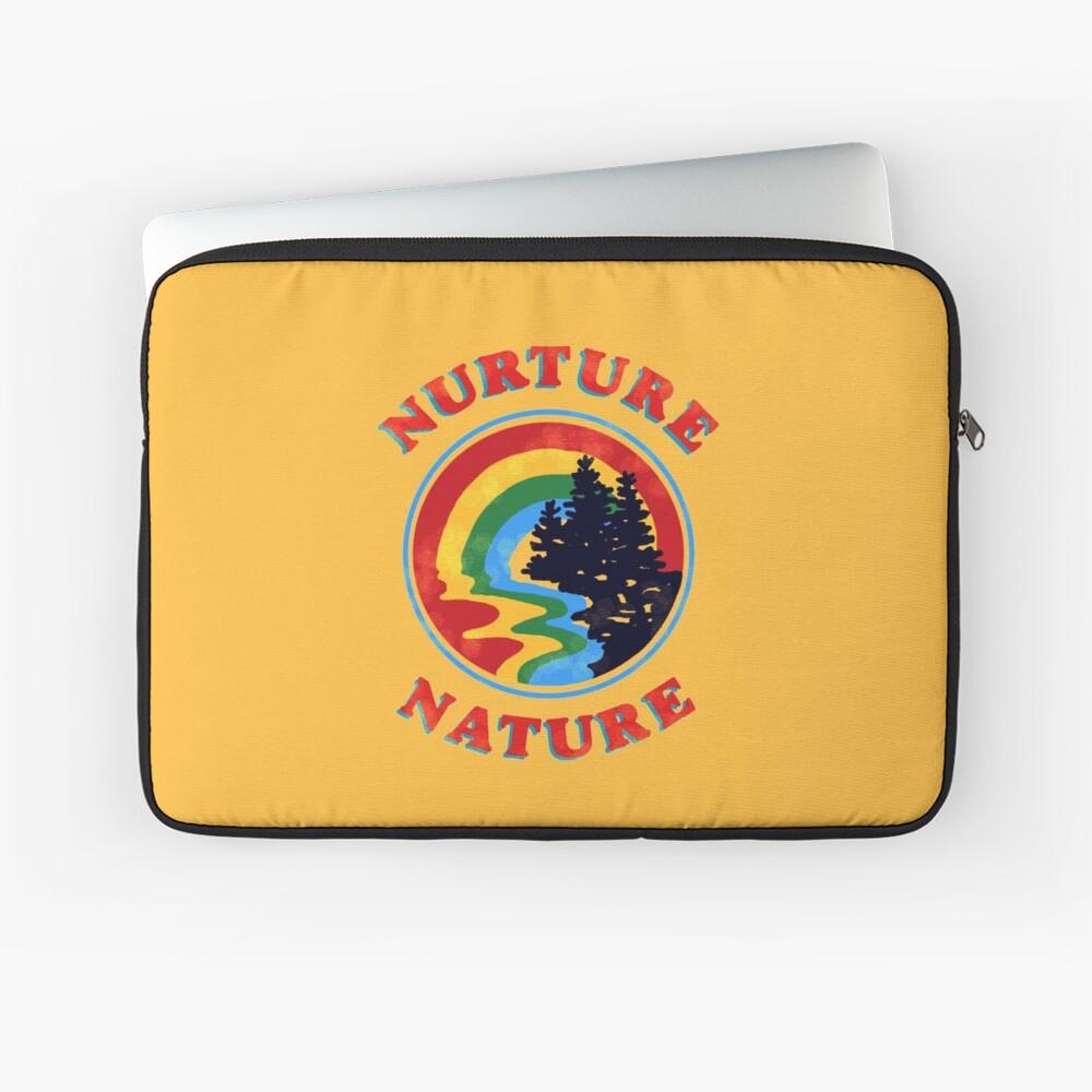 Nurture Nature Vintage Environmentalist Design Laptop Sleeve
