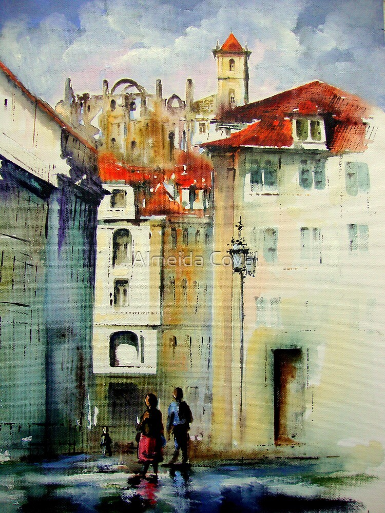 lisbon old city.. by Almeida Coval