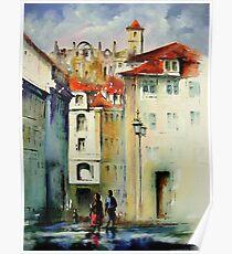 lisbon old city.. Poster