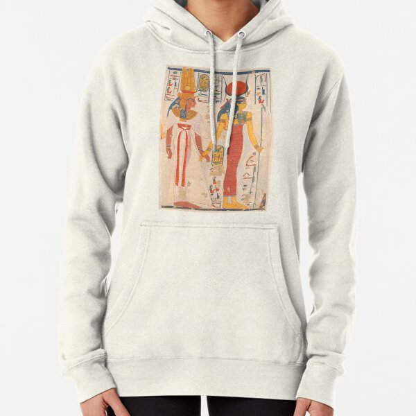 Queen Nefertari of Egypt being led by Isis. Pullover Hoodie