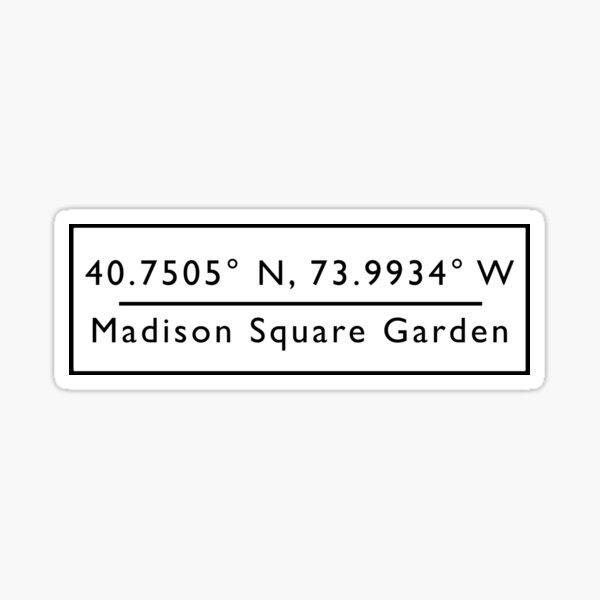 Madison Square Garden Coordinates Sticker