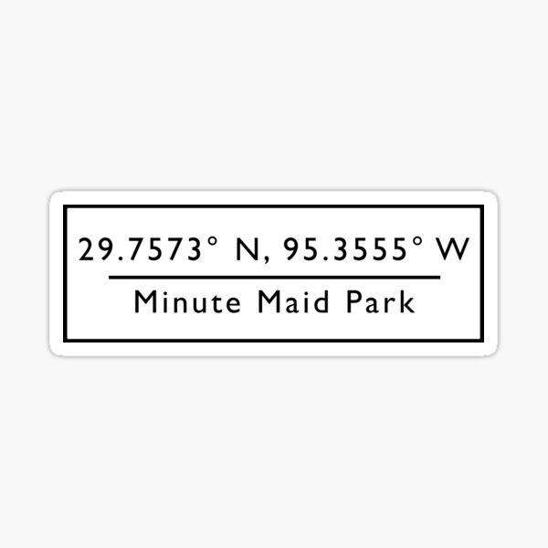 Minute Maid Park Coordinates Sticker