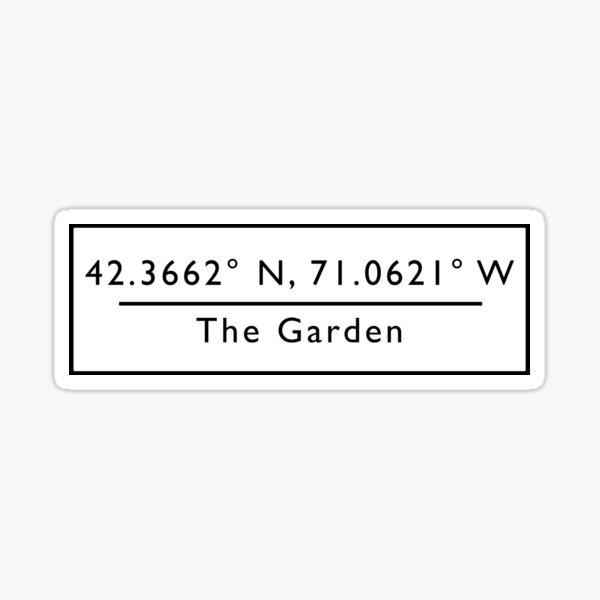 The Garden Coordinates Sticker