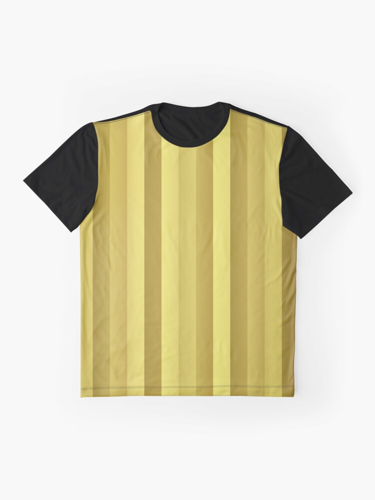 Alternate view of Large Rose Gold and Copper Stripes Graphic T-Shirt