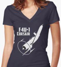 F4U-1 Corsair Women's Fitted V-Neck T-Shirt