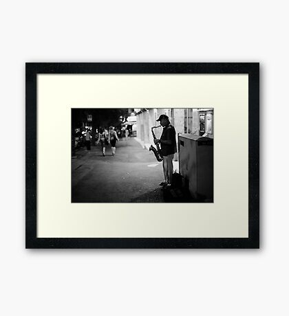 music@night Framed Print