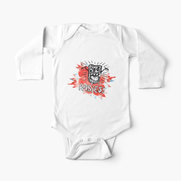 Frothing at the mouth Long Sleeve Baby One-Piece