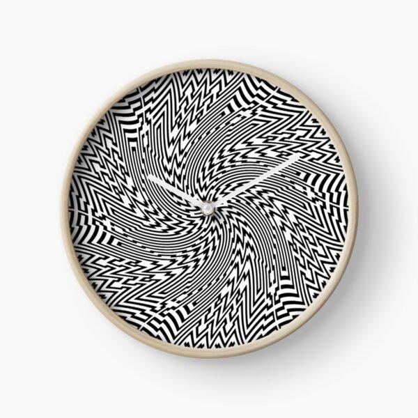 #Psychedelic #Hypnotic #Pattern, Visual #Illusion, Optical Art  Clock