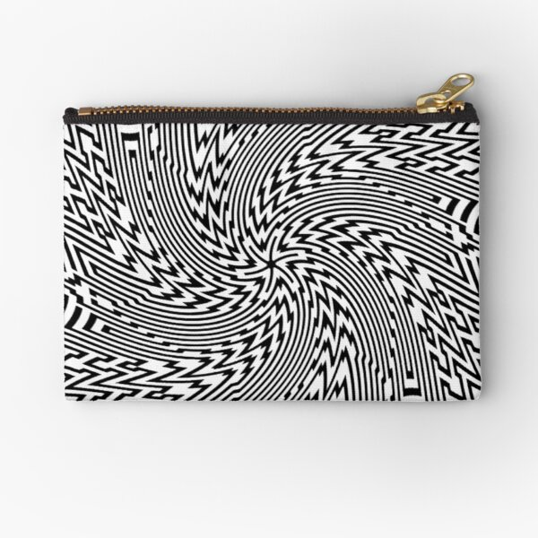 #Psychedelic #Hypnotic #Pattern, Visual #Illusion, Optical Art  Zipper Pouch