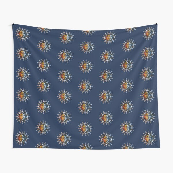 Celestial Sun And Moon Tapestry