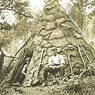 Charcoal Burners' and hut, Backbarrow, Cumbria. by Roy  Massicks