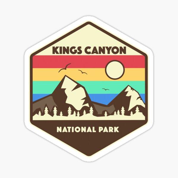 Kings Canyon National Park Retro Mountain Sticker Sticker