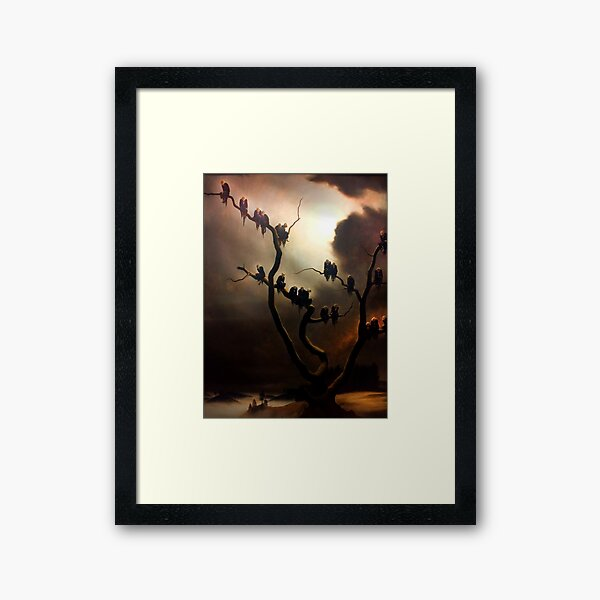 Vivid Retro - Ghosts in a Tree Framed Art Print