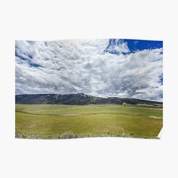 Lakeless Valley Sky Poster