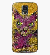 CAT ART PINKGELB Hülle & Klebefolie für Samsung Galaxy