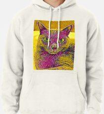 CAT ART PINKGELB Hoodie