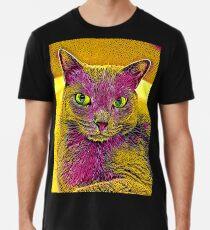 CAT ART PINKGELB Premium T-Shirt