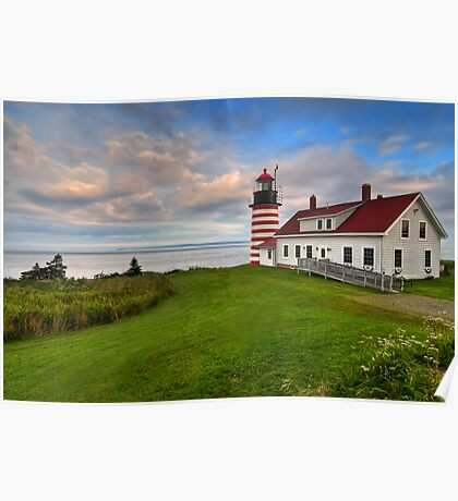 West Quoddy Light - Maine Poster